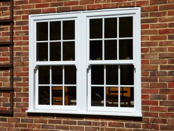 Wood sash windows